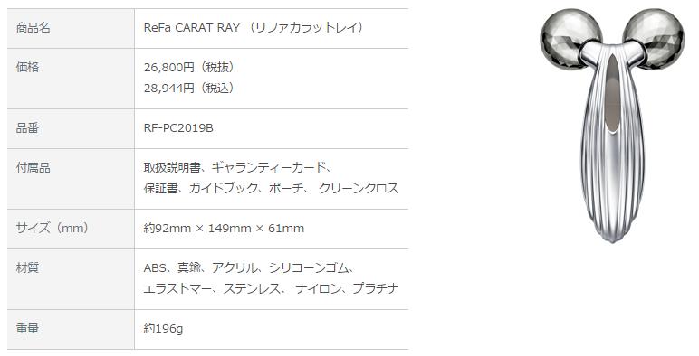 ReFa CARAT RAY(リファ カラット レイ)