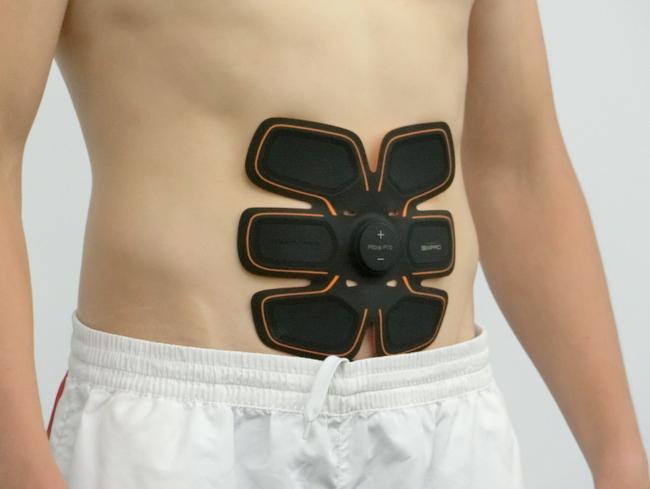 腹筋にシックスパッドを貼る位置