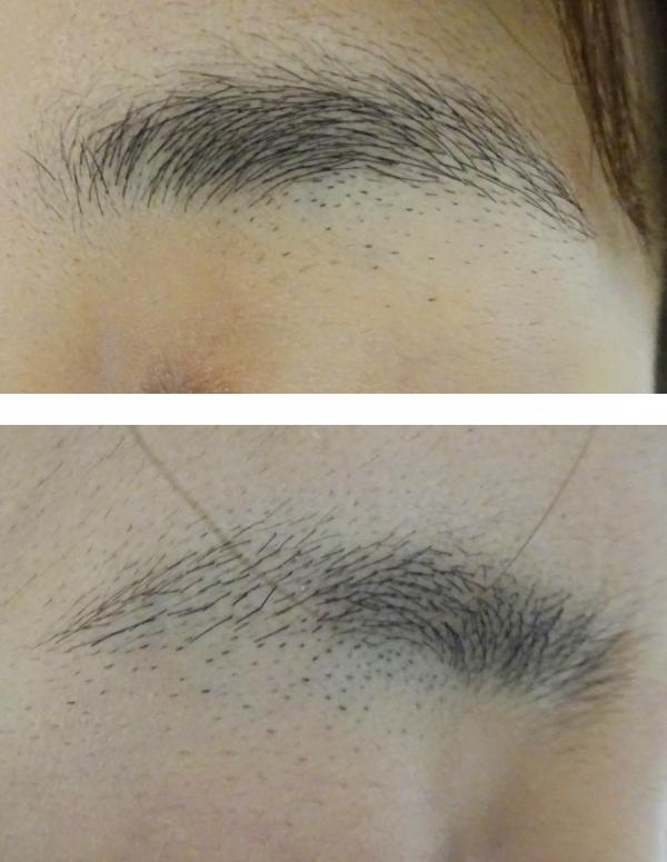 眉毛脱毛前の画像