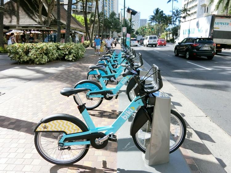 ハワイ 自転車シェアbiki