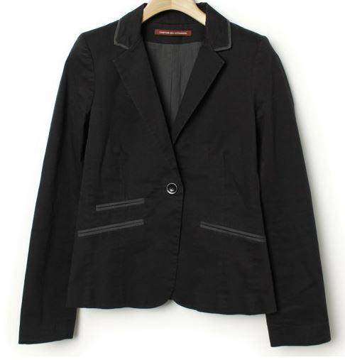 コントワーデコトニエ 黒テーラードジャケット