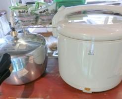 圧力鍋と保温ジャー