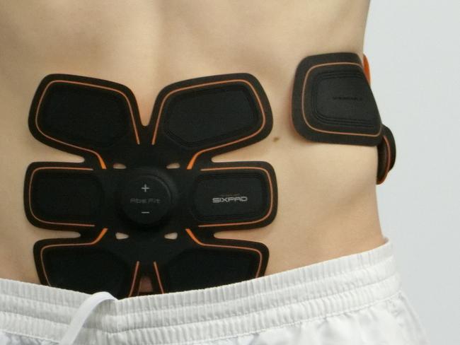 腹筋とウエストにシックスパッドを貼る位置
