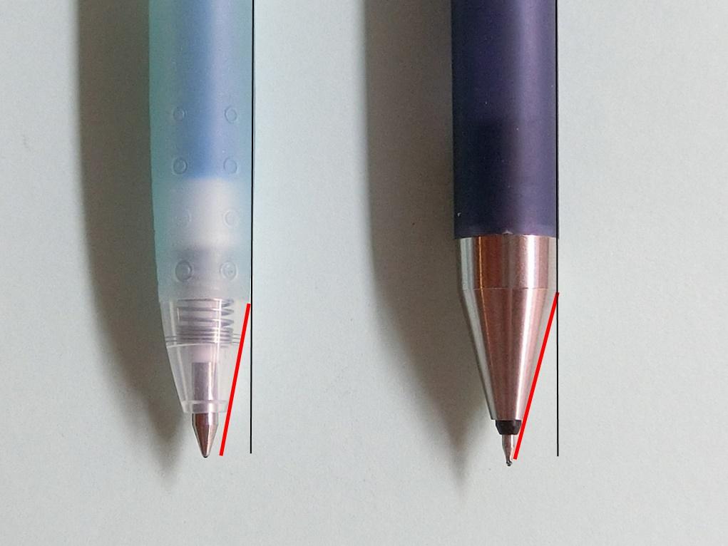 ジュースのペン先比較