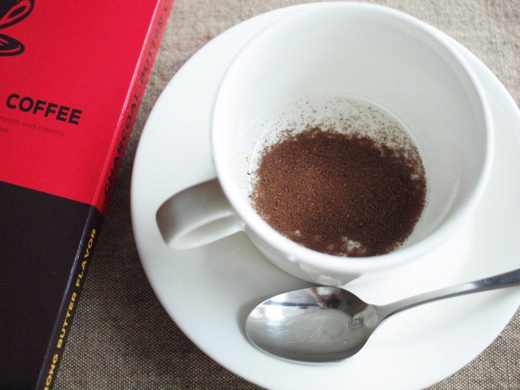 チャコールバターコーヒーの飲み方