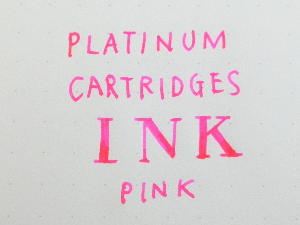 プラチナム万年筆インクカートリッジ ピンク